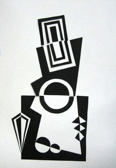 Maribleduca: abril 2011- have students start with a 15x15cm black paper and create a design.