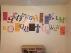 Alphabet I made for grand babies play room wall