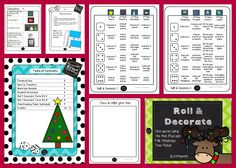 Roll & Decorate - my newest iPad integration activities for center work especially made for K-2 (and even 3rd graders could do it for fun!).  First up, Roll & Decorate a Felt Christmas Tree!  Students use dice and the free app Felt Christmas Tree Maker HD to follow directions to trim the tree.  Follow my store to see new products added to the Roll & Decorate line!