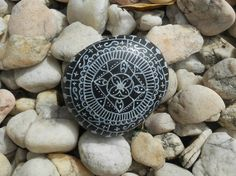 Hand Painted Stone by mayrarosito on Etsy, $10.00