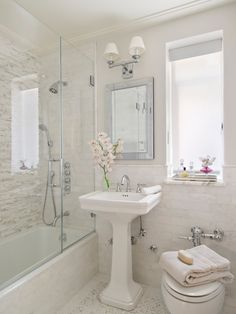 This bathroom is short on space but not on style!