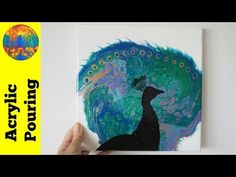 (118) Adding a silhouette on an acrylic pour background - YouTube