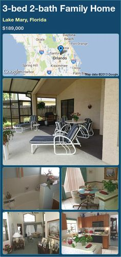 3-bed 2-bath Family Home in Lake Mary, Florida ►$189,000 #PropertyForSale #RealEstate #Florida http://florida-magic.com/properties/16275-family-home-for-sale-in-lake-mary-florida-with-3-bedroom-2-bathroom