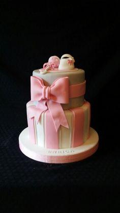 Grey & Pink Cake
