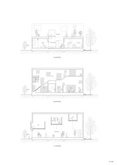 Image 29 of 29 from gallery of House in Yamanote / Katsutoshi Sasaki + Associates. Photograph by Katsutoshi Sasaki + Associates Chinese Architecture, Architecture Drawings, Architecture Details, Modern Architecture, Master Room Design, Study Room Design, Caribbean Homes, Steel Structure Buildings, Long House