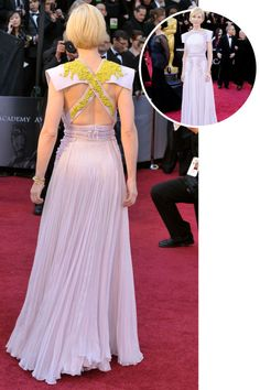 The best red carpet dresses from the back: Cate Blanchett in Givenchy Haute Couture at the 2011 Academy Awards.