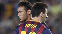 #LionelMessi y su primer enojo con #Neymar. #depor