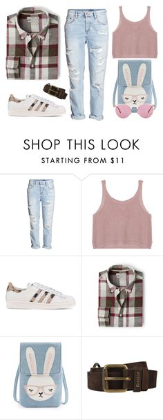 """SsSprinGgG"" by camomile-x on Polyvore featuring мода, H&M, adidas Originals, MANGO, Belstaff и Oliver Peoples"