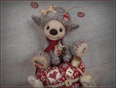 Felt Crafts, Needle Felting, Whimsical, Creations, Teddy Bear, Etsy, Boutique, Dolls, Vintage