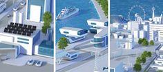 Auto-suficiente plantas industriais e edifícios energeticamente eficientes Energia