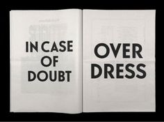 In case of doubt.....