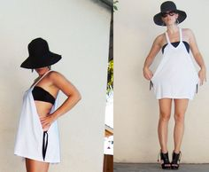 Simple Side-Tie Beach Cover-Up