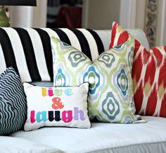 PB Teen Monogrammed Pillows by hi sugarplum!, via Flickr