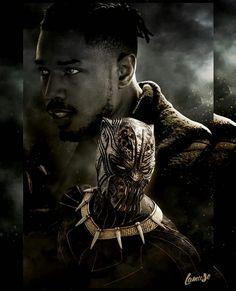 Erik Killmonger (Michael B. Marvel Comics, Marvel Villains, Marvel Comic Universe, Marvel Vs, Marvel Heroes, Deadpool Comics, Michael B Jordan, Black Panther Art, Black Panther Marvel