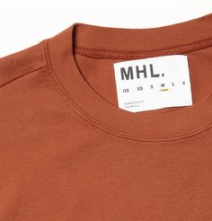 Margaret HowellMHL Cotton Crew Neck T-Shirt Tag Design, Label Design, What Is Garment, T Shirt Label, Fashion Identity, Margaret Howell, Fashion Capsule, Fashion Graphic, Clothing Labels