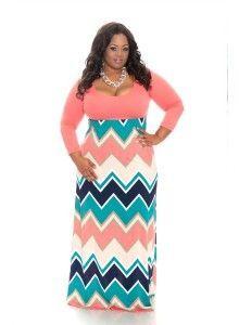 Plus size maternity chevron dress