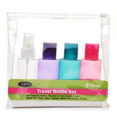 I'm learning all about Handy Solutions 4 Piece Travel Bottle Kit - TSA Approved at @Influenster!
