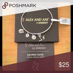 Alex and Ani (+) Energy Sacred Dove Bracelet New Sacred Dove Single Russian Silver bracelet - original box and tag - never worn Alex and Ani Jewelry Bracelets