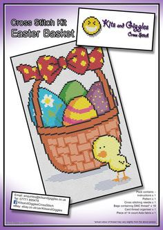 Check out this item in my Etsy shop https://www.etsy.com/uk/listing/270786359/easter-basket-cross-stitch-kit-with-dmc