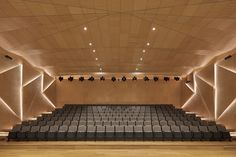 Gallery of Florence Culture and Art Exchange Centre / penda – 29 - Diy Techniques Auditorium Architecture, Theater Architecture, Auditorium Design, Auditorium Seating, Cultural Architecture, Interior Architecture, Church Interior Design, Acoustic Design, Home Theater Rooms