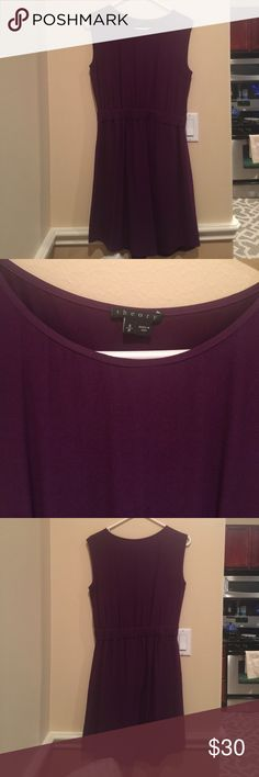 Theory Dress - Deep Purple Barely worn. No signs of wear. 58% viscose and 42% acetate Theory Dresses Midi