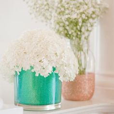 DIY Glitter Vases  Soooo pretty!! Love this! x