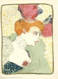 Henri de Toulouse-Lautrec ~ Untitled, 1895 (eight-color lithograph)