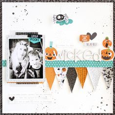 Bella Blvd Spooktacular Collection. Wicked layout by Gail Lindner.
