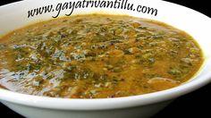 Gongura Pappu - Dekenee Hemp in Lentils - Andhra Cuisine -  Indian Telugu Vegetarian Recipes