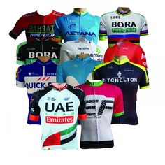 2018 Pro team cycling jersey summer Bicycle maillot breathable MTB Short sleeve bike clothing Ropa Ciclismo only