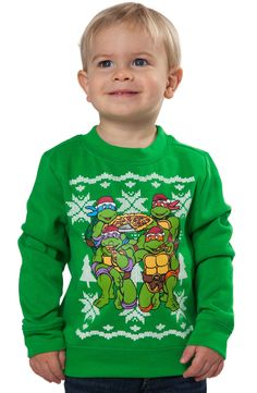 Teenage Mutant Ninja Turtles Toddler Christmas Sweater: Faux Sweater