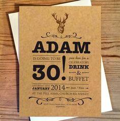 stag birthday invitations by chandler invitations | notonthehighstreet.com