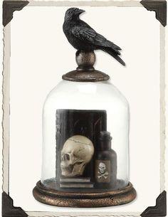 Edgar Allen Poe Nevermore Raven Bell Jar