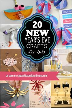 New Years Eve Crafts for Kids, Great Idea For A New Years Themed Birthday Party! New Year's Eve Crafts, Holiday Crafts For Kids, Crafts For Kids To Make, Crafts For Teens, Art For Kids, Arts And Crafts, Kids Crafts, Toddler Crafts, Kids Fun