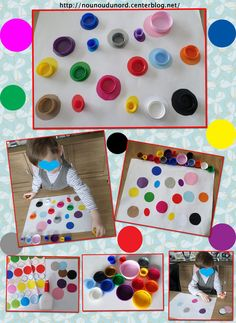 Activité pour bien reconnaître les couleurs Montessori Baby, Montessori Activities, Toddler Activities, Learning Activities, Diy For Kids, Crafts For Kids, Kindergarten, Montessori Materials, Tot School