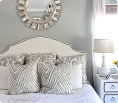 grey bedroom wall