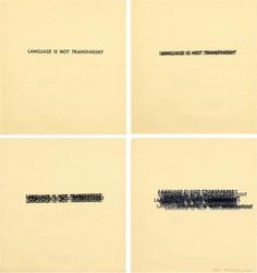 Language Is Not Transparent - Mel Bochner