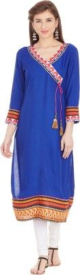Prakhya Casual Printed Women's Kurti - Buy Blue Prakhya Casual Printed Women's Kurti Online at Best Prices in India | Flipkart.com