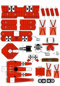 Molde de avião Triplano
