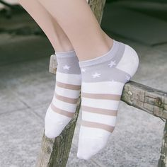 Newly Design Cute  Socks Striped Pattern Women Cotton Sock invisible shallow mouth women's cotton socks short tube socks 17-022