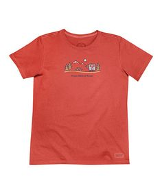 Another great find on #zulily! Chili Red 'Roam Sweet Roam' Crusher Tee by Life is good® #zulilyfinds