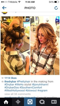 Exceptional Hot Rollers Before And After. Long Curled HairCurly ...