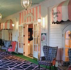 Adorable cafe in the Greenbrier Hotel, WV. Adorable. via parishotelboutique shop blog