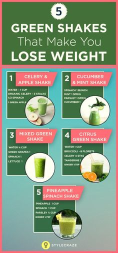 5 green shakes that make you lose weight