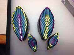 Feather canes by ISabelleClayArt-Tchoupuce