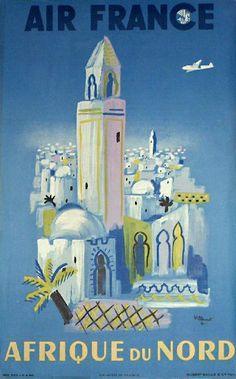 Air France to Africa, 1948, Bernard Villemot