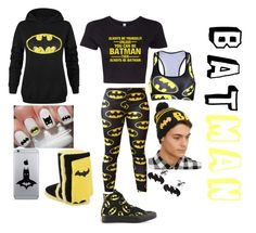 """""""BATMAN"""" by tryn11 ❤ liked on Polyvore featuring Converse, women's clothing, women's fashion, women, female, woman, misses and juniors"""