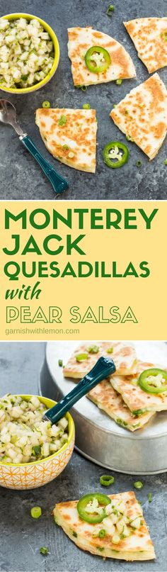 These crowd-pleasing Monterey Jack Quesadillas with Pear Salsa are always the…