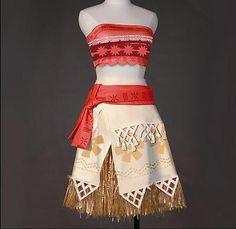 New Moana Costume Movie Cosplay Princess Party Corset Skirt Belt Custom Made