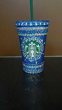 Crystal Embellished Grande Bling Starbucks Tumblers